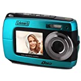 Coleman Duo2 2V8WP Dual Screen Shock & Waterproof Digital Camera (Blue)