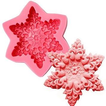 Cookware company – Molde y accesorios – Navidad copo de nieve jabón molde fondant decoración de