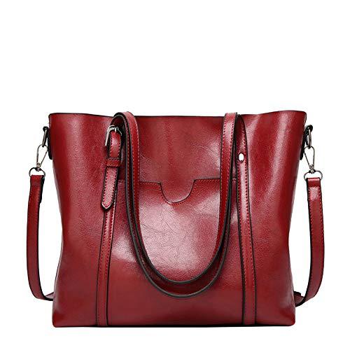 Sac à bandoulière Mode Femmes en cuir souple de grande capacité Casual épaule diagonale rouge femme