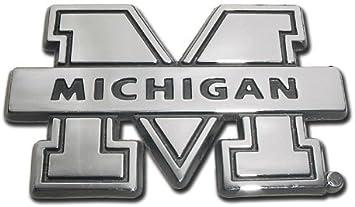 University of Michigan Wolverines Chrome Plated Premium Metal Emblem NCAA College Car Truck Motorcycle Logo