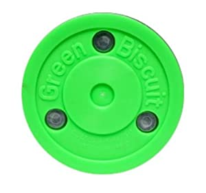 Green Biscuit PASS Trainingspuck f. Eishockey, Hockey Puck Asphalt