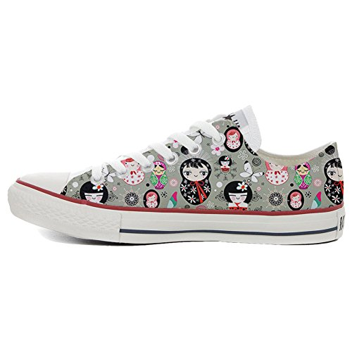 Converse All Star Slim Customized personalisierte Schuhe (Handwerk Schuhe) Matrilu