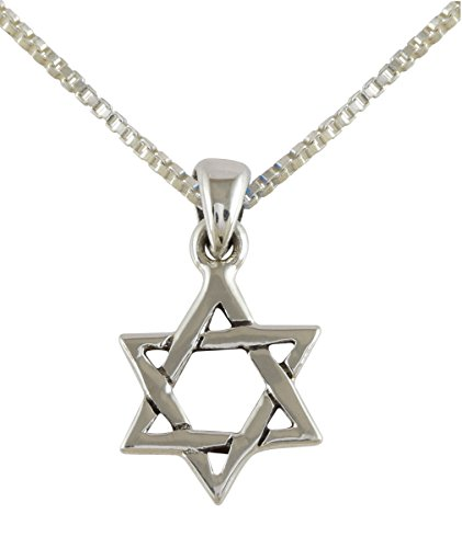 AJDesign 925 Sterling Silver Interlocking Star of David Pendant Necklace with Chain - Mall Sterling Heights