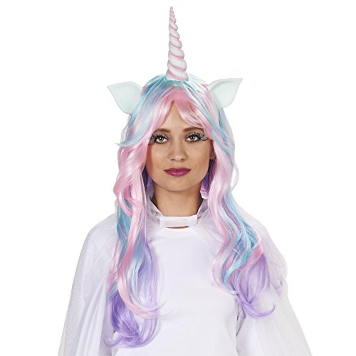 Pastel Unicorn Adult Wig (Horns Costume Wig)