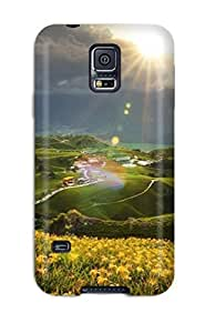Hot Design Premium WKkFVHk13158OPzQM Tpu Case Cover Galaxy S5 Protection Case(the Yellow Fields)