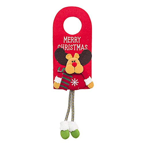 Feccile 1PC Santa Claus Snowman Reindeer Refrigerator Handle Hanger Christmas Decoration Door Handle Hanger Christmas Kitchen Appliance Handle Hanger Snowman Door Knob Covers, 48cm x 14cm (C)