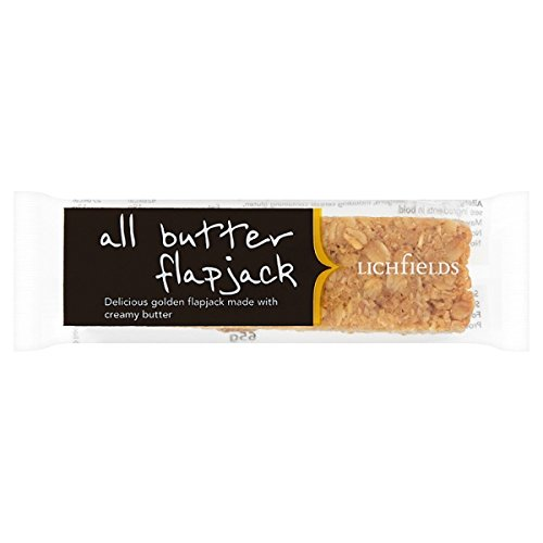 Lichfields toda la mantequilla de Flapjack 65g (Pack de 18 x 65 g)