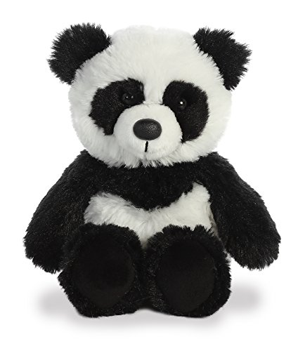 Aurora Panda Plush White Black