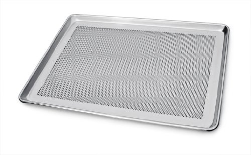 New Star Foodservice 36787 Commercial 18-Gauge Aluminum Sheet Pan, Perforated, 18 x 26 x 1 inch (Full Size) Pack of (Perforated Aluminum Bun)