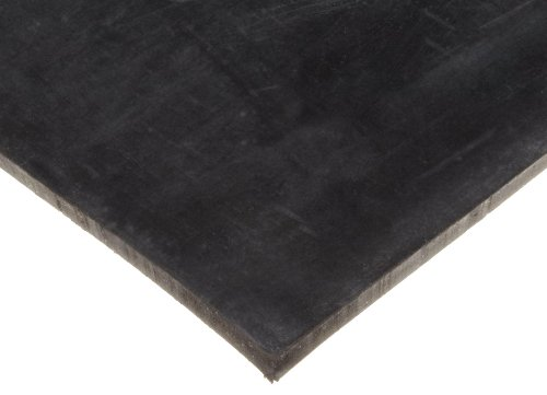 Neoprene Sheet, Smooth Finish, No Backing, Black, 3/16'' Thickness, 12'' Width, 24'' Length by Small Parts