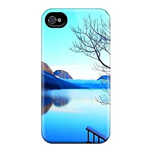 Excellent Design Blue Lake In Winter Case Cover For Iphone 4/4s