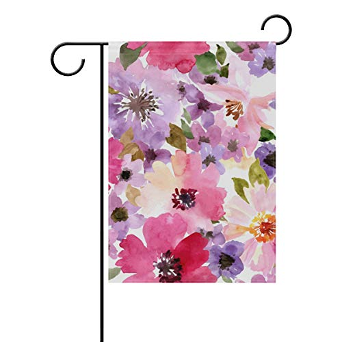 Chic Houses Watercolor Flowers Painting Colorful Seriess Outdoor Garden Flags Creative Design Vertical Double Sided Home Decorative House Yard Sign 12 x 18 Inch 2030519