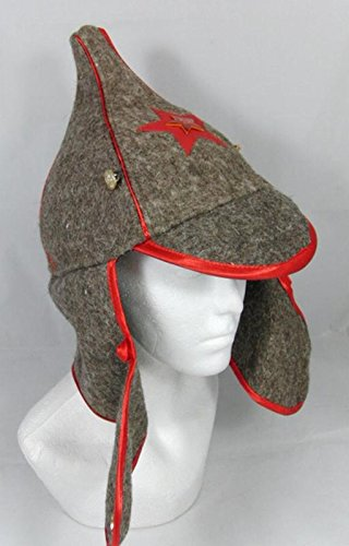 82521d45f13 Russian Hat Soviet Red Army Old Style Wool Budenovka with Red Star Badge   Amazon.co.uk  Kitchen   Home