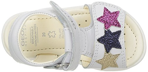 Pictures of Geox Girls' VERRED 16 Sandal White/Multicolor B8221B085BNC0653 2
