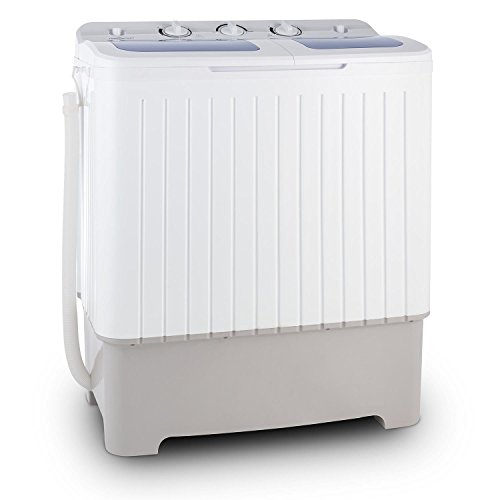 oneConcept Ecowash XXL Waschmaschine Toplader 8,5 kg Füll-Kapazität für Studenten-Haushalt Camping 5,2 kg Schleuder (400 Watt Wasch-Leistung, 150 Watt Schleuder-Leistung, 2 Programme) weiß