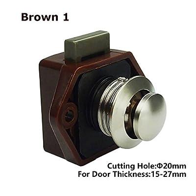 Encell Set of 5 Push Button Catch Cupboard Door Knob Latch Lock for RV Camper Motor Home Caravan: Automotive