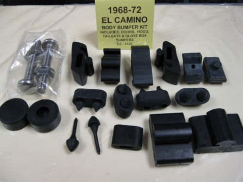 1968 1969 1970 1971 1972 EL CAMINO BODY BUMPER KIT - DOORS, HOOD, TAILGATE & GLOVE BOX BUMPERS ()