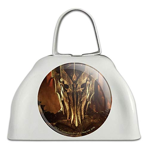 The Lord of The Rings Sauron Character White Metal Cowbell Cow Bell Instrument (Lord Of The Rings In Concert Usa)