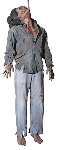 BACK FROM THE GRAVE Dead Man Rockin' Animated Haunted House Halloween Horror Prop -