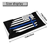 Thin Blue Line Police Cross Jesus USA Flag Bandana