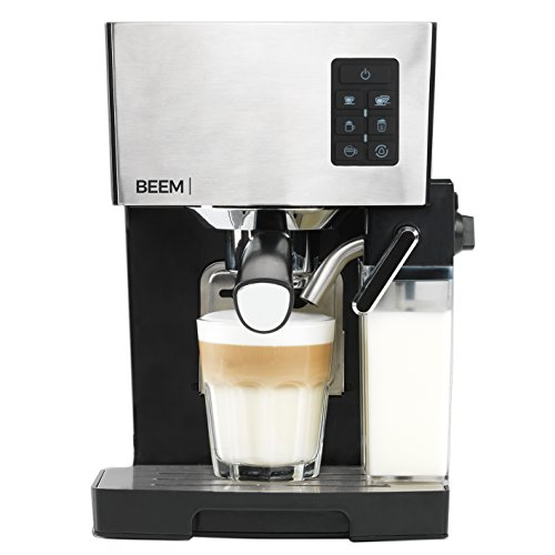 BEEM Espresso-Siebträgermaschine 1110SR - Elements of Coffee & Tea, 1450 W, 19 bar, Milchaufschäumer, Edelstahl, inkl. Pflegezubehör und 500g Kaffee (Vorteilspack)