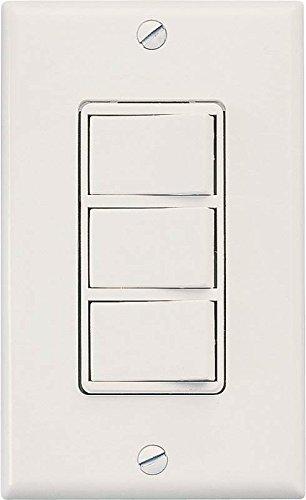 Air King AKS3 Rocker Style 3-Function Switch, White