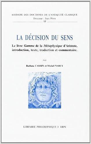 Amazon Com La Decision Du Sens Le Livre Gamma De La
