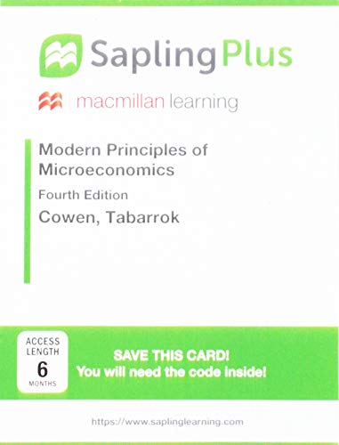 SaplingPlus for Modern Principles of Microeconomics (Single-Term Access)
