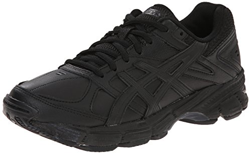 Tr Leather (ASICS Women's Gel 190 TR Training Shoe, Black/Black/Silver, 9 2E)