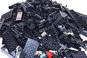 LEGO~ ONE POUND of BLACK LEGO BRICKS, BLOCKS, PLATES ASSORTED SIZES (Lego Bricks Assorted)