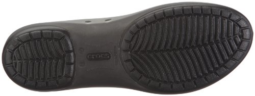 crocs Carlie Flat Blk/Blk W4 11277-060-409 - Bailarinas para mujer Negro (Schwarz/Black/Black Bzw. Blk/Blk)