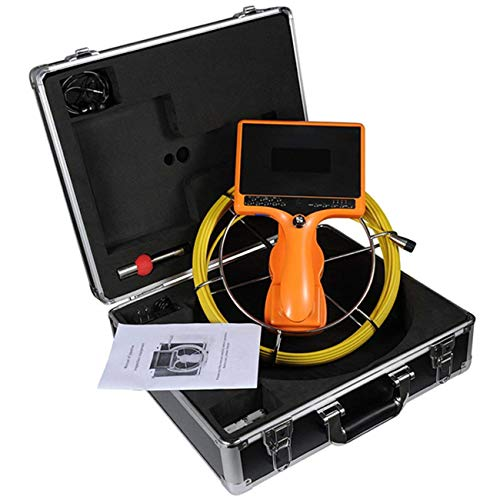 Camera with Distance Counter and DVR/Portable Endoscope Inspection Camera with IP68 40M/131FT Cable 7inch 1000TVL for Drain Pipe Sewer Inspection ()