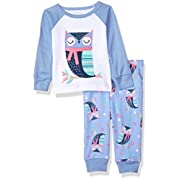 The Children's Place Baby Owl Themed 2 Piece Pajamas, Splshsplsh 91683, 0-3MONTHS