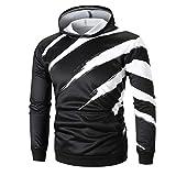 Zainafacai 2018 New Fashion-3D Sweaters Print Graphic Sweatshirt Hooded with Pockets (Black, L)