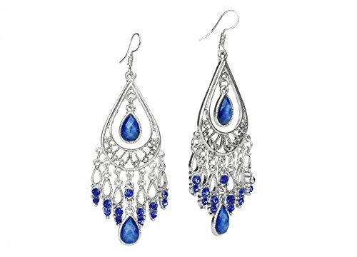 Dazzle Flash Boho Style Alloy Drop Earrings For Women Fashion Jewelry EAG080 (Indian Style Earrings)