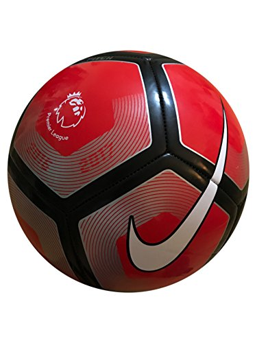 Nike Premier League Pitch Soccer Ball (Red/Silver/Black, 5)