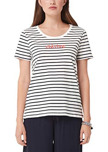 s.Oliver RED Label Damen T-Shirt mit Embroidery-Wording