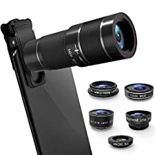 Cell Phone Camera Lens with 18X Zoom Telephoto Lens