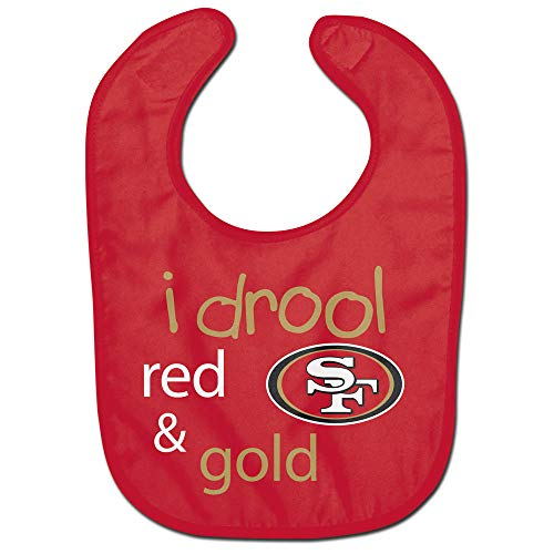 (WinCraft San Francisco 49ers Baby Bib All Pro Style I Drool Design)