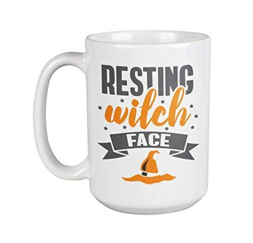 Resting Witch Face Funny Cute Halloween Pun Quotes With Witches' Hat Muq 11OZ Coffee Mug]()