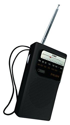 Coby CR-203-BLK Pocket Size AM/FM Radio, Black