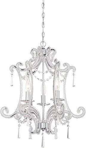 Minka Lavery 3152-77 3-Light Mini Chandelier, Chrome Finish