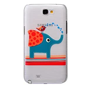 ZXM-El elefante y el modelo del pájaro pc cepilló la caja dura para Samsung Galaxy Note 2 n7100