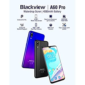 4G Mobile Phone, Blackview A60 Pro Smartphones Unlocked, Dual SIM Free Android 9.0 Phones with 6.1 inches Waterdrop Full…