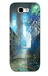 Christmas Gift - Tpu Case Cover For Galaxy Note 2 Strong Protect Case - Abandoned Library Design