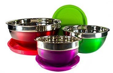 deep glass mixing bowls - 5