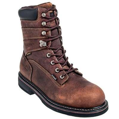 Wolverine Boots: Men's Brown 10083 Brek Waterproof Durashocks EH Work Boots - 8 Inch Work Boots - Men's Work Boots - Footwear