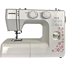 Janome 2112 Cherry Blossom Easy-to-Use Sewing Machine with 12 Stitches, Fully Adjustable Stitch Length and Width. Diamond Cut Feed Dogs for Easy Traction on all fabrics.