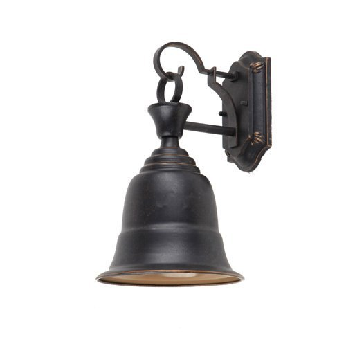 Y Decor EL54OR Modern, Transitional, Traditional 1 Light Liberty Bell Outdoor Wall Scone Fixture Oil Rubbed Bronze By Y Décor,