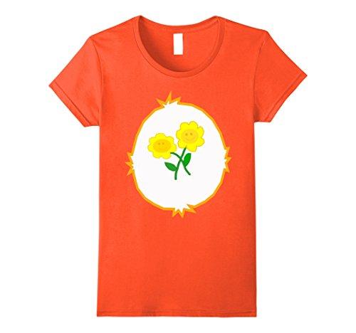 Womens Bear Stare - Friend Bear T-Shirt Small (Orange Care Bear)